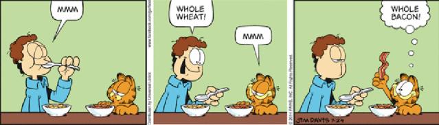 Garfield bacon