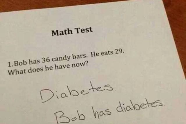 Diabetes Math Test