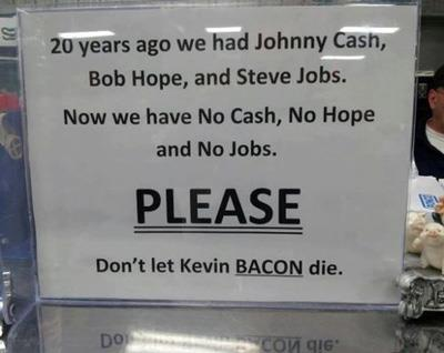 Kevin Bacon Plea