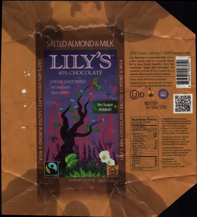 Lilys Stevia Sweetened Chocolate