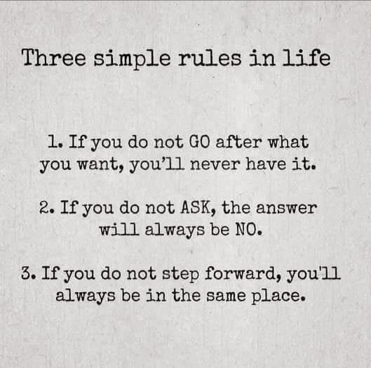 Three Rules of Life