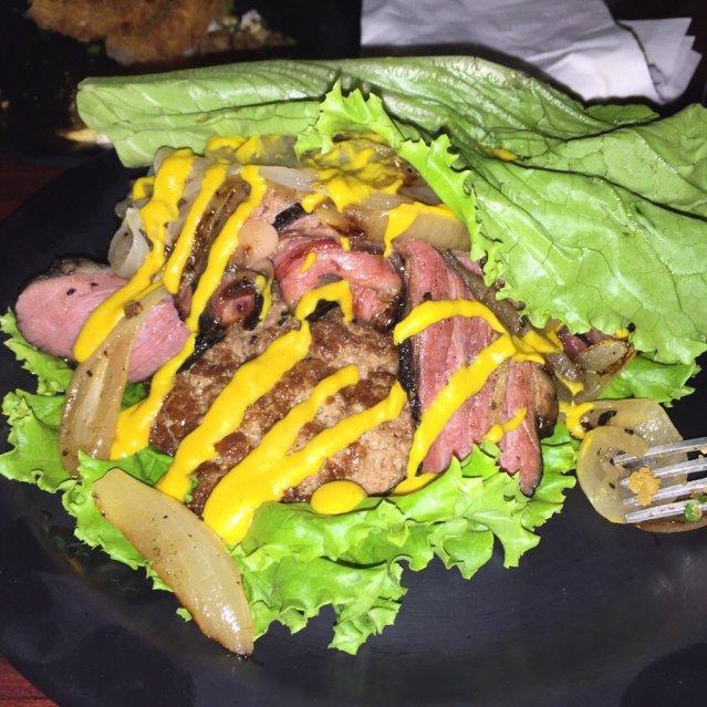 Pastrami low carb sandwich