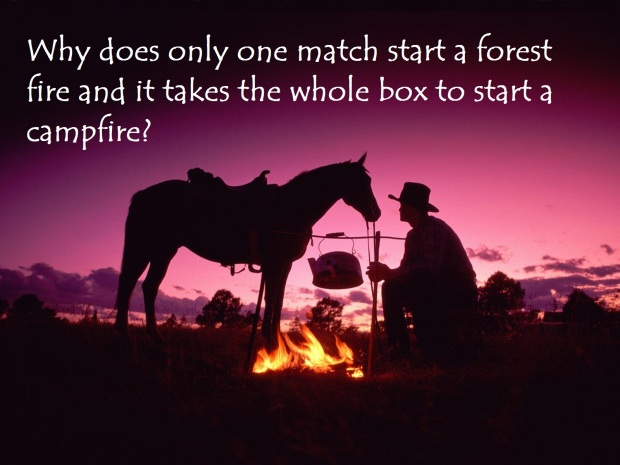 Start a fire with one match is like Ketosis