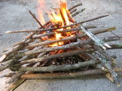 log cabin firestart