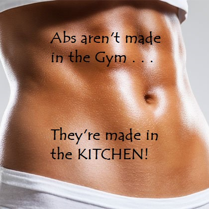 Abs female Abs made in kitchen